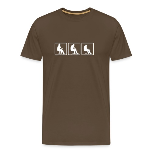 Guitarist Evolution II (marron/Blanc) - T-shirt Premium Homme