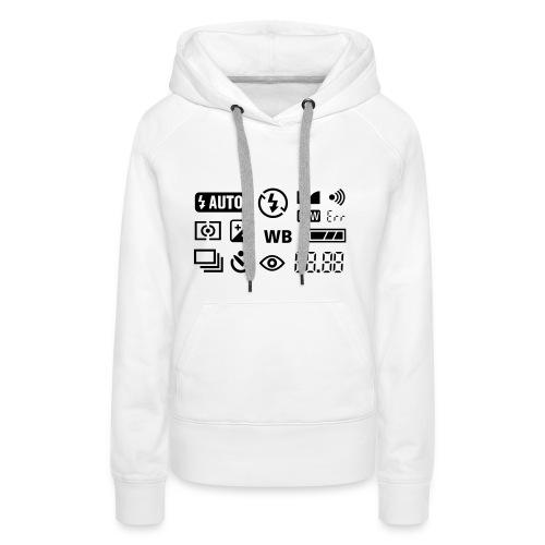 Kapuzenpullover für Frauen Fotografie-Symbole - Frauen Premium Hoodie
