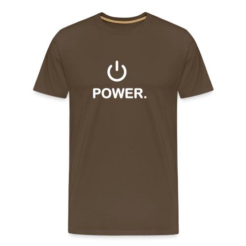 Power - Premium-T-shirt herr