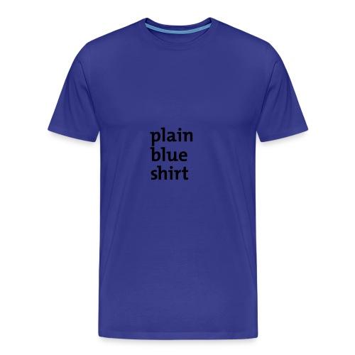 Blue Shirt - Männer Premium T-Shirt