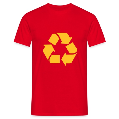 Recycle dicht - Mannen T-shirt