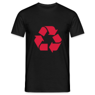 T-shirts ~ Mannen T-shirt ~ Recycle dicht