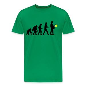 Evolution Bier - Männer Premium T-Shirt