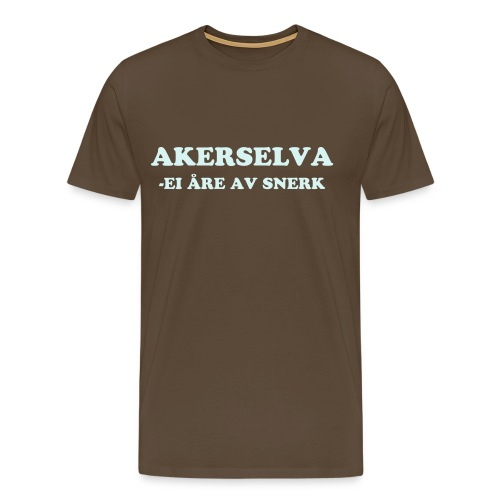 Akerselva - Premium T-skjorte for menn