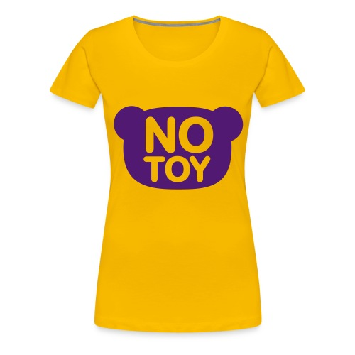 Ladies Shirt Yellow with Purple Print - Women's Premium T-Shirt