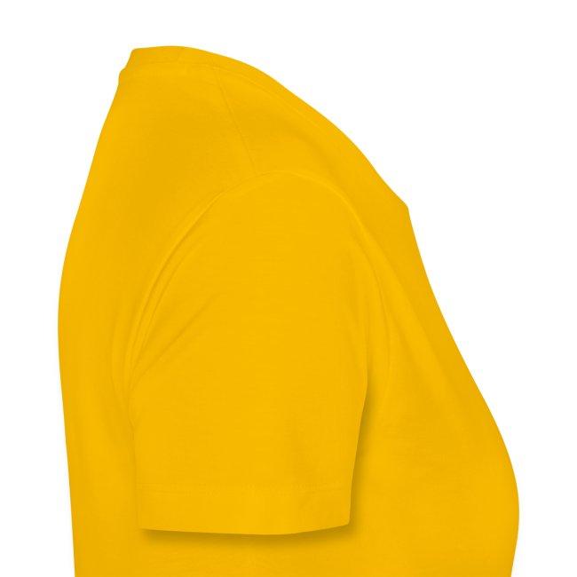 Ladies Shirt Yellow with Purple Print