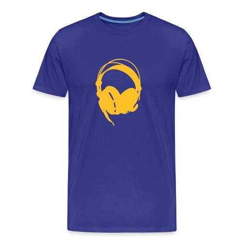 Music is Power - Headphones - Men's Premium T-Shirt