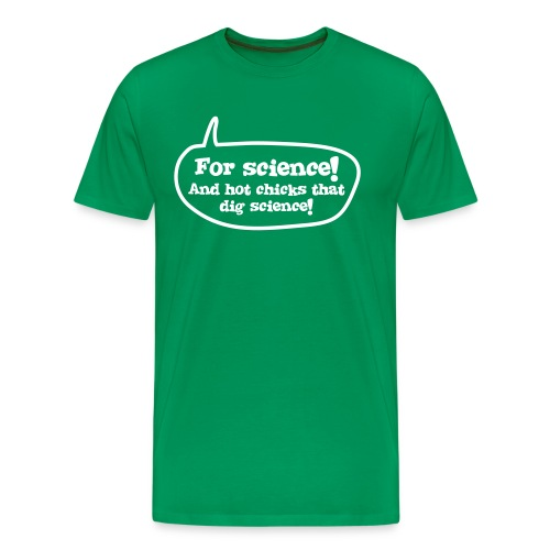 For Science Mens Green - Men's Premium T-Shirt