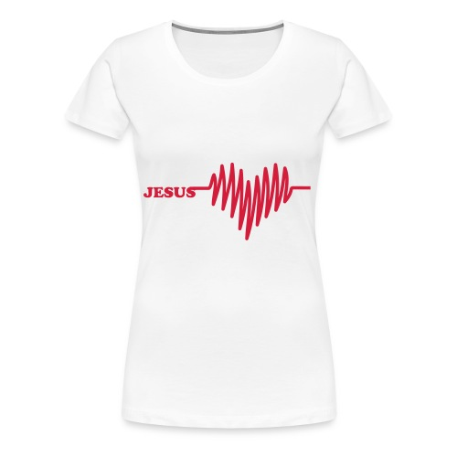 MY HEART IS BEATING FOR JESUS - Vrouwen Premium T-shirt