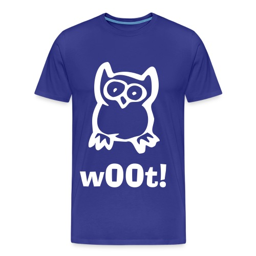 Owl Woot Mens Blue - Men's Premium T-Shirt
