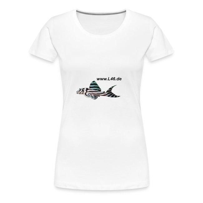Girly-T V-Neck Weiß Logo vorne, groß