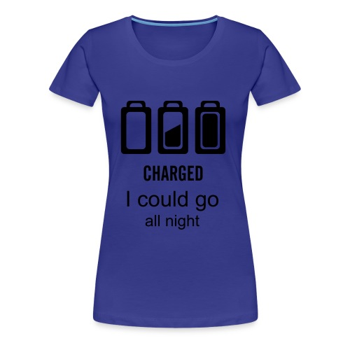 i could go all night (girls) - Women's Premium T-Shirt