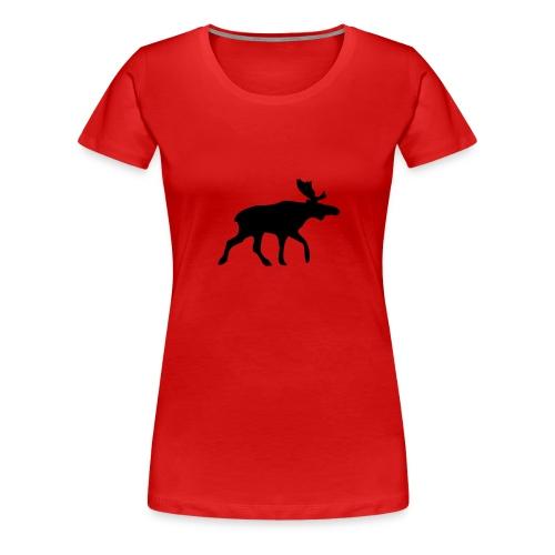 Elch-Shirt Rot - Frauen Premium T-Shirt