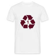 T-shirts ~ Mannen T-shirt ~ Recycle 1 dicht