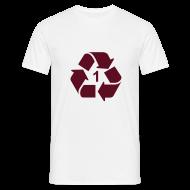 T-shirts ~ Mannen T-shirt ~ Recycle 1 dicht