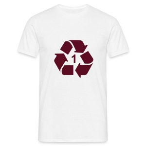 Recycle 1 dicht - Mannen T-shirt