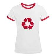 T-shirts ~ Vrouwen contrastshirt ~ Recycle 1 dicht