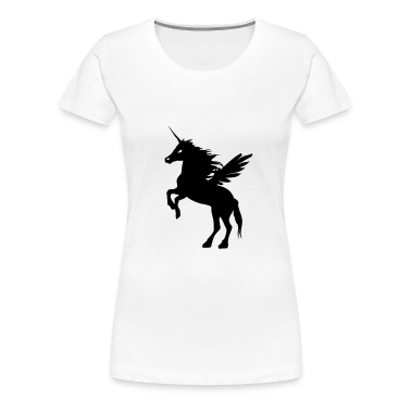 White flying_einhorn1 T-Shirts