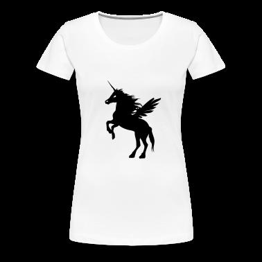 White flying_einhorn1 T-Shirts