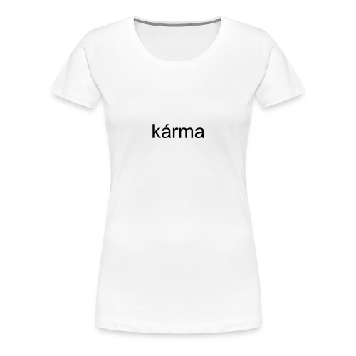 white karma - Women's Premium T-Shirt
