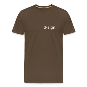 d-sign brown - Men's Premium T-Shirt