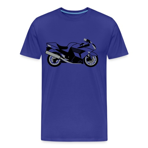 ZZR1400 ZX14 (Royal Blue) - Men's Premium T-Shirt