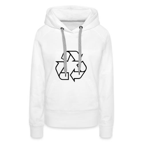 Recycle open - Vrouwen Premium hoodie