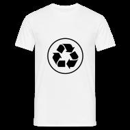 T-shirts ~ Mannen T-shirt ~ Recycle circle