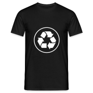 T-shirts ~ Mannen T-shirt ~ Recycle circle