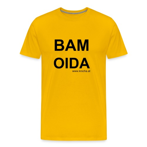 Shirt - Boy BAM OIDA / Yellow - Männer Premium T-Shirt
