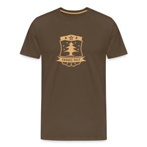 Frohes Fest Wappen T-Shirt - Männer Premium T-Shirt