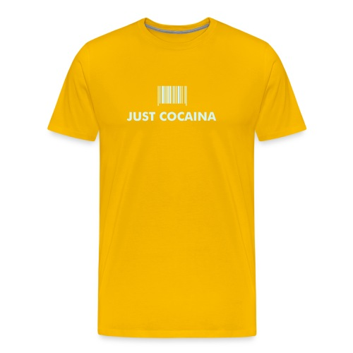 Just Cocaina® YELLOW - T-shirt Premium Homme