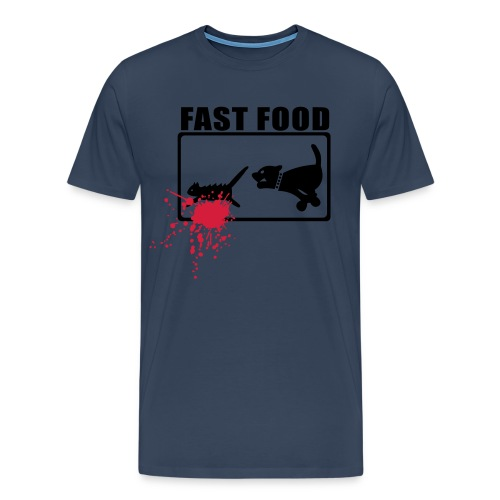 FAST FOOD! Navy Black Red - Männer Premium T-Shirt