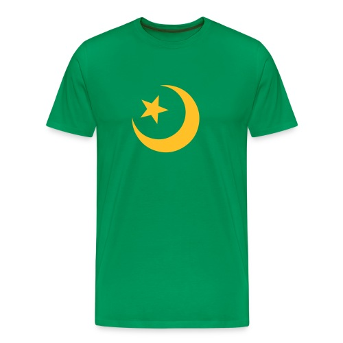 Moon Star Green - Herre premium T-shirt