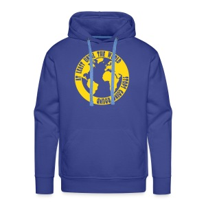 AT LEAST UNTIL THE WORLD STOPS GOING ROUND - Men's Premium Hoodie