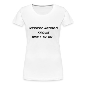 Officer Jenson Shirt - White - Women's Premium T-Shirt