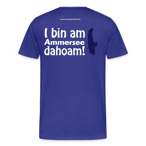 I bin am Ammersee dahoam 2c - Männer Premium T-Shirt