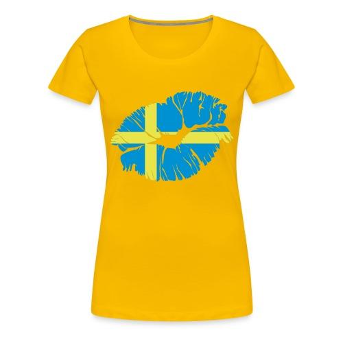 Olika Sorters Toppar - Premium-T-shirt dam