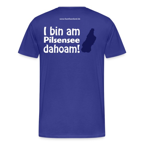 I bin am Pilsensee dahoam 2c - Männer Premium T-Shirt