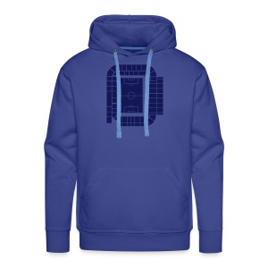 ELLAND ROAD - ACTUAL STADIUM PLAN - Men's Premium Hoodie