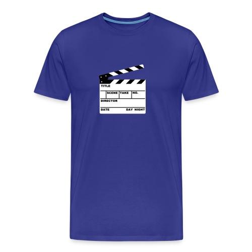 Writeable Clapperboard on a Comfort Tee-shirt - Men's Premium T-Shirt
