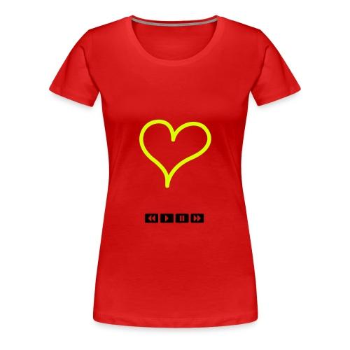 Heart tape - Women's Premium T-Shirt