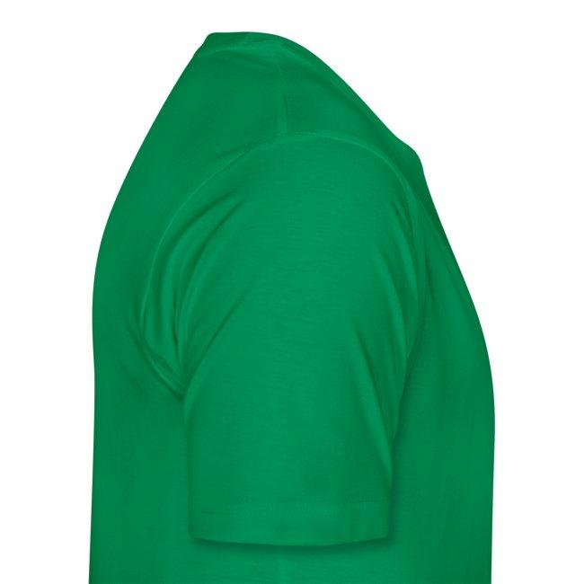'Expelliarmus Low/Side detail' Mens Comfort Tee GREEN