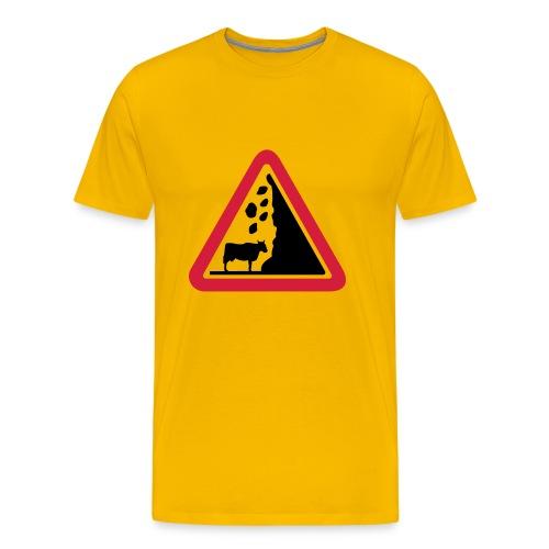 Gefahrenkuh - Männer Premium T-Shirt