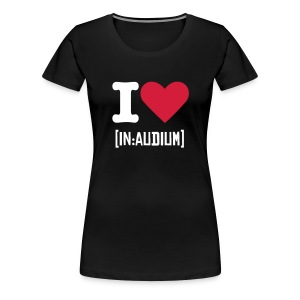 I love [in:audium] girls T - Women's Premium T-Shirt