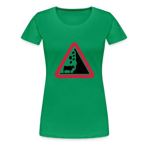 Gefahrenkuh - Frauen Premium T-Shirt