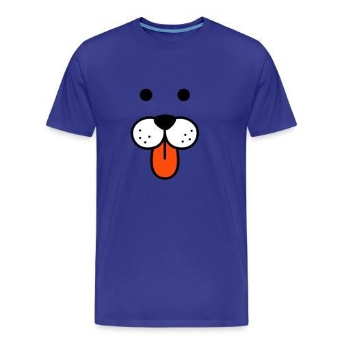 T SHIRT WITH DOG FACE - Men's Premium T-Shirt