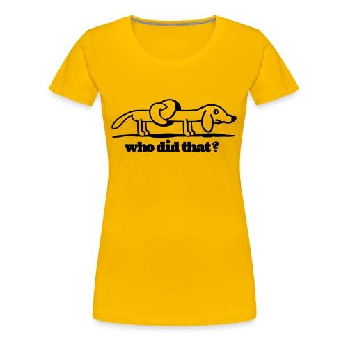 dog twist - Premium T-skjorte for kvinner
