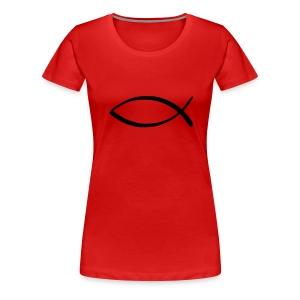 Dam fisk röd - Premium-T-shirt dam