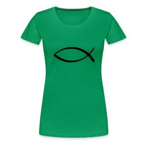 Dam fiskgrön - Premium-T-shirt dam